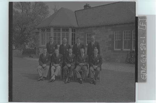 The Walker Cup Match, 1959. The American (USA) Team, Muirfield.