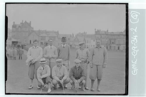 The Walker Cup Match 1934. The American (USA) Team, the Old Course, St Andrews.