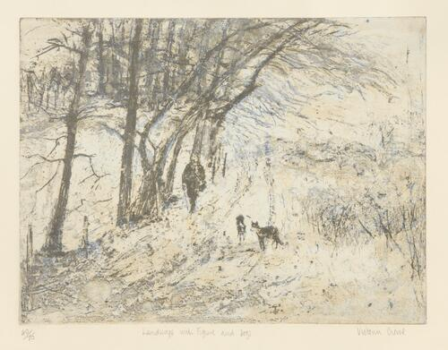 """Landscape with Figure and Dogs"""