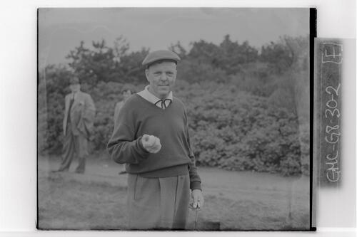 Gene Andrews (USA) at the British Amateur Golf Championship, Troon.