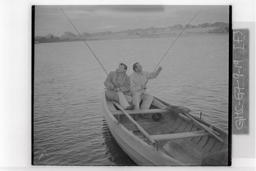 Rees and Faulkner fishing.