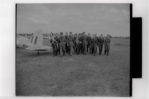 Members of the St Andrews University Air Squadron at RAF Shawbury