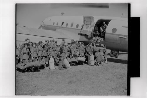 The 3511 Auxiliary Squadron leave RAF Leuchars for Germany.