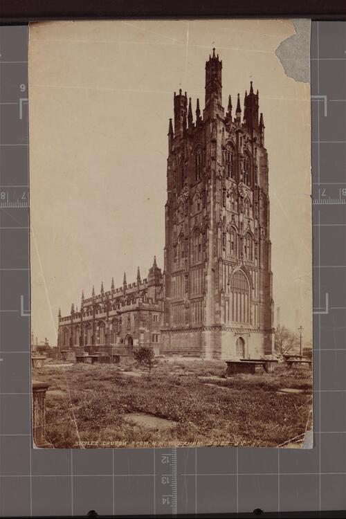 St Giles Church from North West, Wrexham.