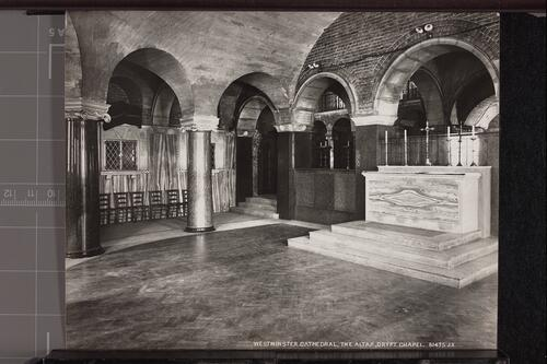 The Altar, Crypt Chapel, Westminster Cathedral.