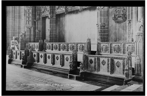 The Choir Stalls, Liverpool Cathedral.