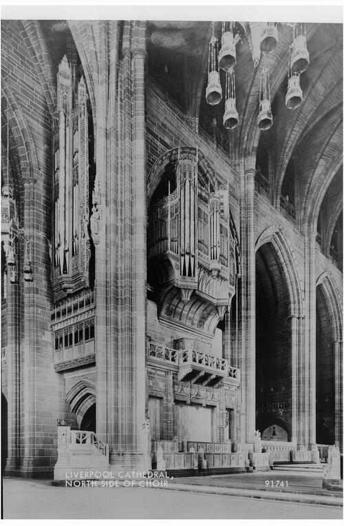 Liverpool Cathedral, north side of the Choir.