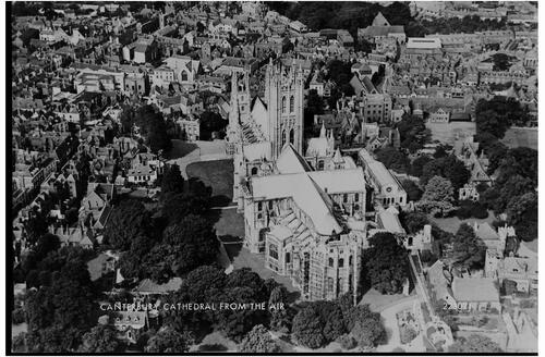 Canterbury Cathedral from the Air.