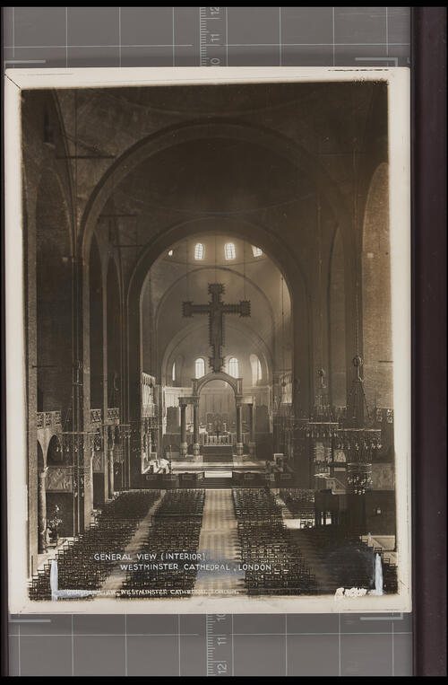 General View (Interior), Westminster Cathedral, London.