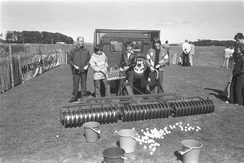 Reekie Motor's golf ball lifter.