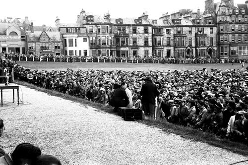 Crowds, the Open, St Andrews.