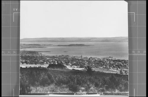 Helensburgh from above the Highlandman's Road.