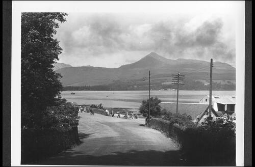 The Bay and Goatfell from Lamlash Road, Brodick.