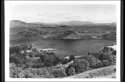 Camstraddan Bay and the Islands, Loch Lomond, from above Luss.