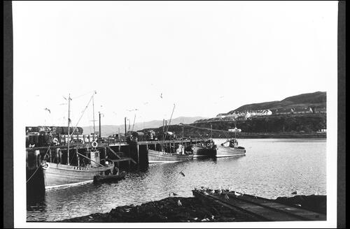 Mallaig Harbour and Khyber.