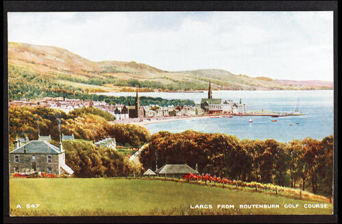 Largs from the Routenburn Golf Course.