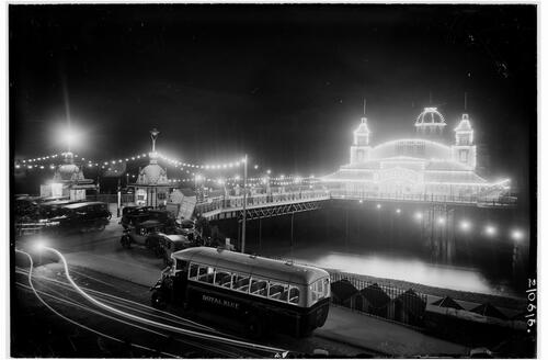 Pier and Promenade (by light), Bae Colwyn (Colwyn Bay).