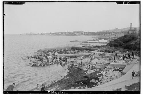 Dun Laoghaire showing Sandycove.