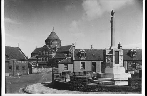 War Memorial and St Sophia's Church, Galston.