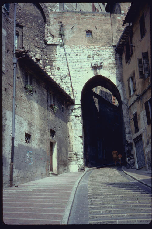 Cornea of the Etruscan Arch, Perugia, Italy.