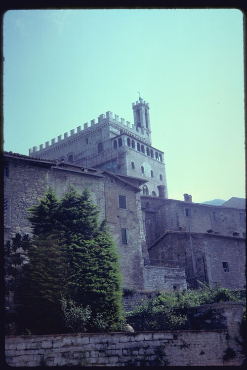 [Palazzo de Consoli from the South], Gubbio, Italy.