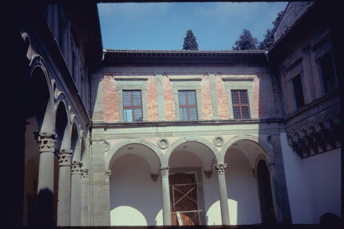 Ducal Palace Courtyard, Gubbio, Italy.