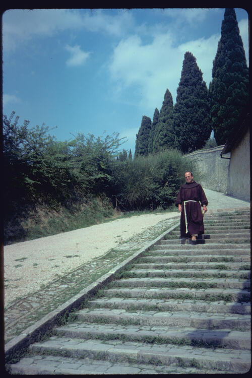 A Monk at San Damiano, Assisi, Italy.