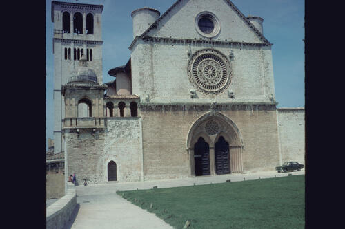 The Basilica of San Francesco, Assisi, Italy.