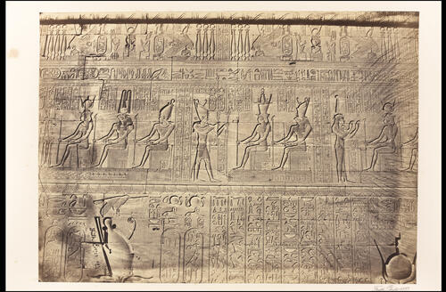 Sculptures, outer wall, Dendera.
