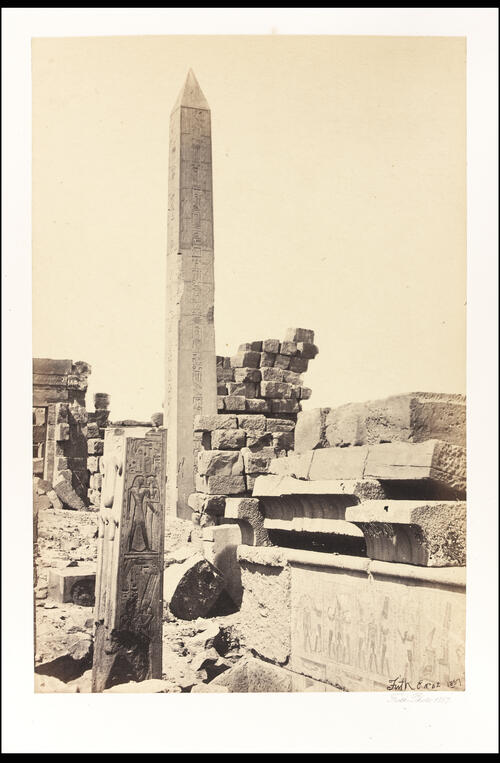 Obelisk & granite Lotus column.