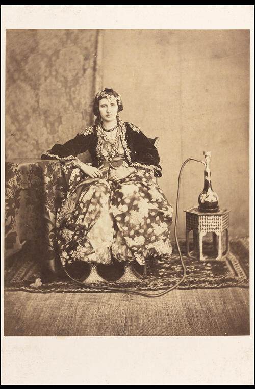 [Woman with hookah].