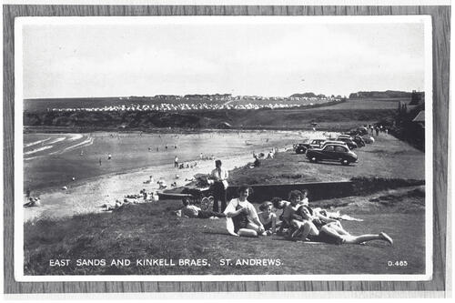 St Andrews. East Sands and Kinkell Braes,