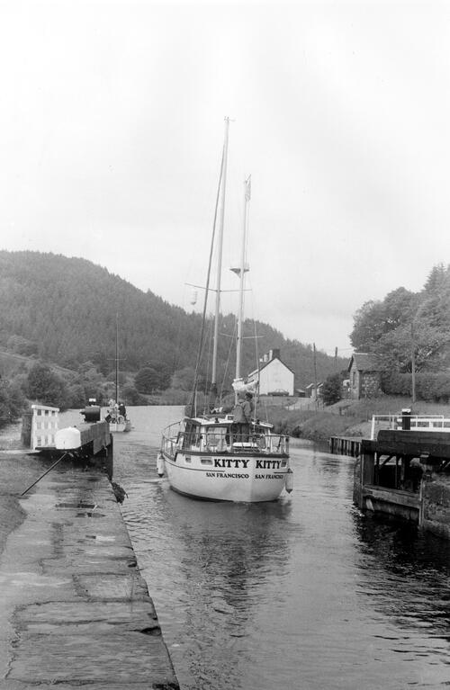 Leaving lock 8 on Crinan Canal.