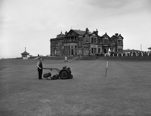 Mower, Old Course, St Andrews.