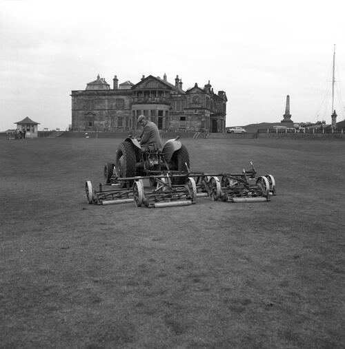 Mower on Old Course.