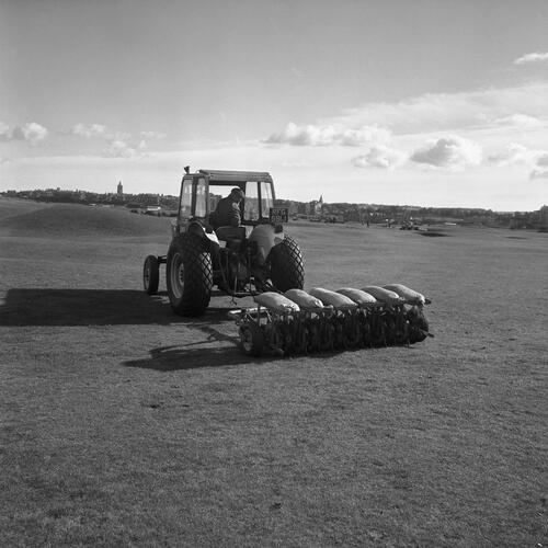Aerating machine, St Andrews.