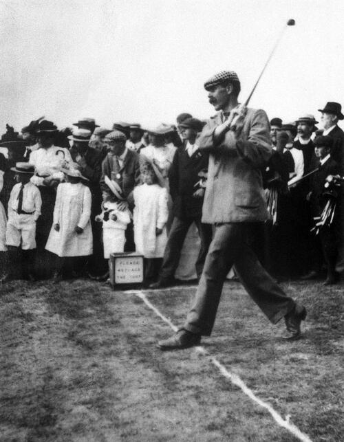 James Braid driving.