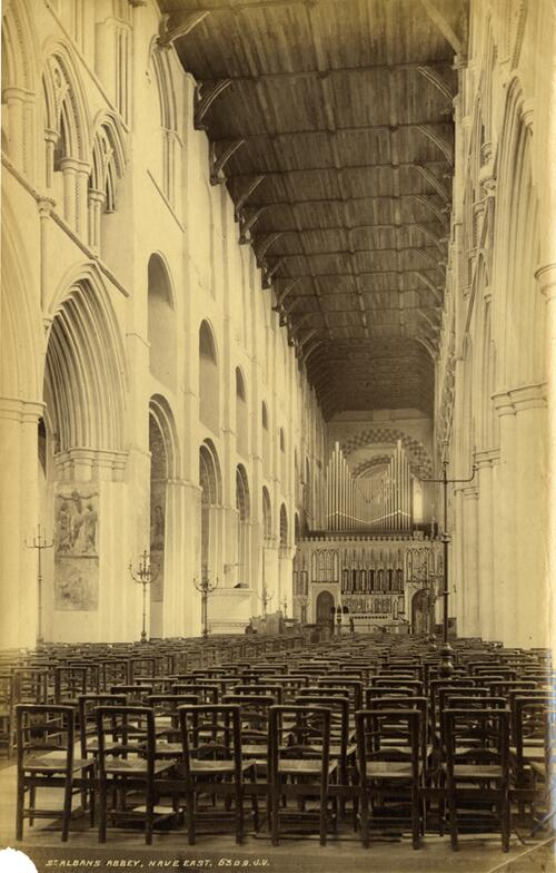 Nave East, St Albans Abbey.