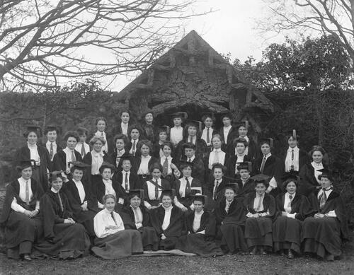 University Hall Students, 1908.