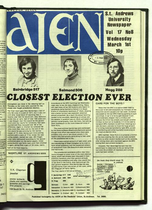 Front page of Aien