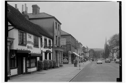 High Street and Chequers Inn, Marlow.