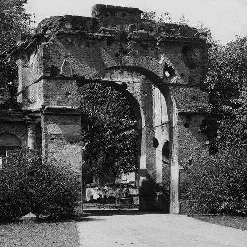 The Baille gate at the British Residency, Lucknow.