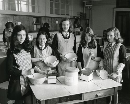 Cookery class at Grove Academy.