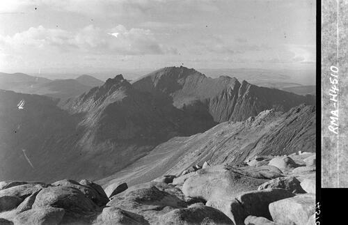 The Arran Ridges from Goatfell.