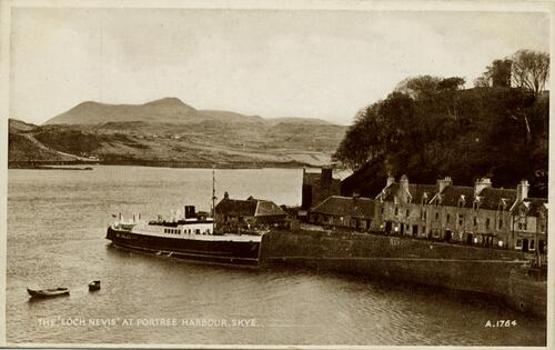 """Loch Nevis"" at Portree harbour."