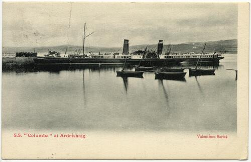 "S.S. ""Columba"" at Ardrishaig."