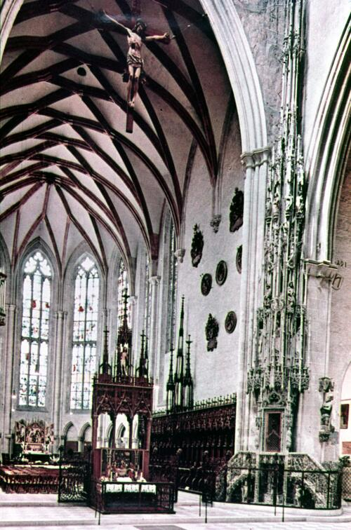 Interior of Ulm Cathedral.