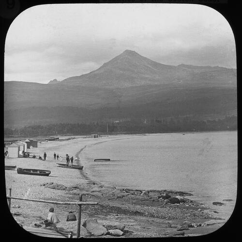 Brodick Bay and Goatfell.