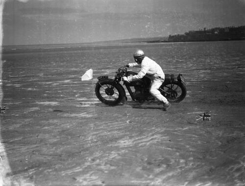 Motorcycle races on the West Sands, St Andrews.