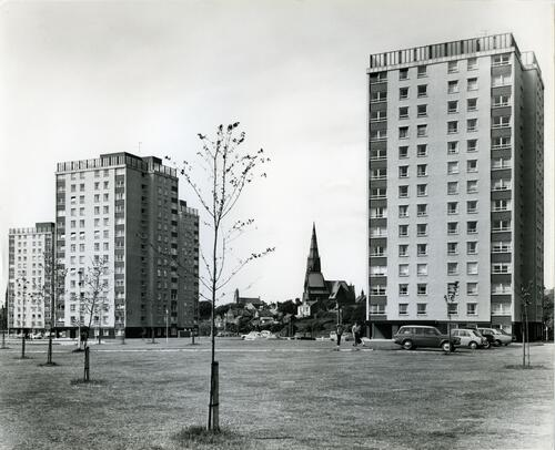 High-rise flats in Fullerton.